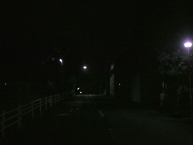 薄暗い帰り道