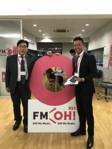 FM大阪にて