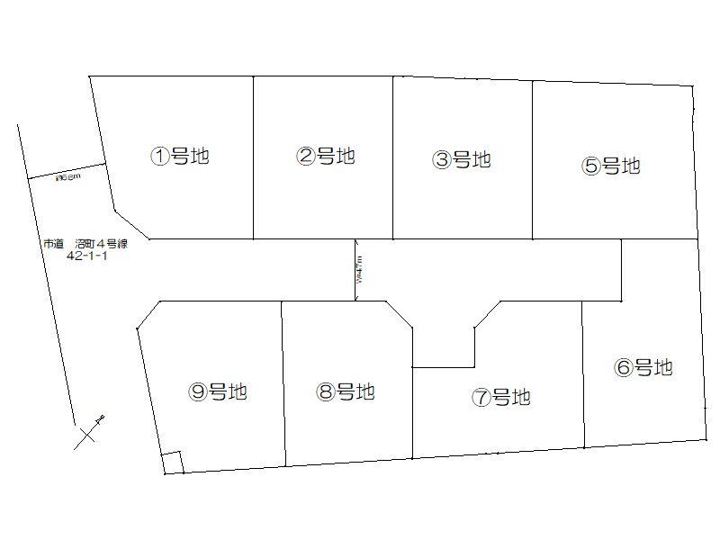 沼町 区画図