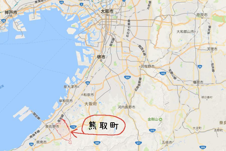 熊取町五門西マップ