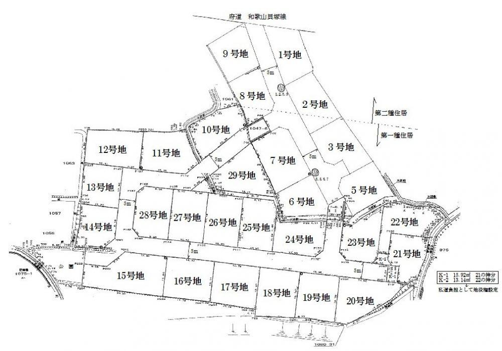 和泉鳥取 区画図